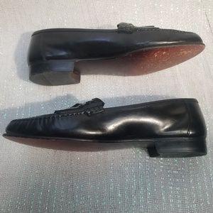 Claybrooke Shoes - Claybrooke black leather tassel loafers size 12 D